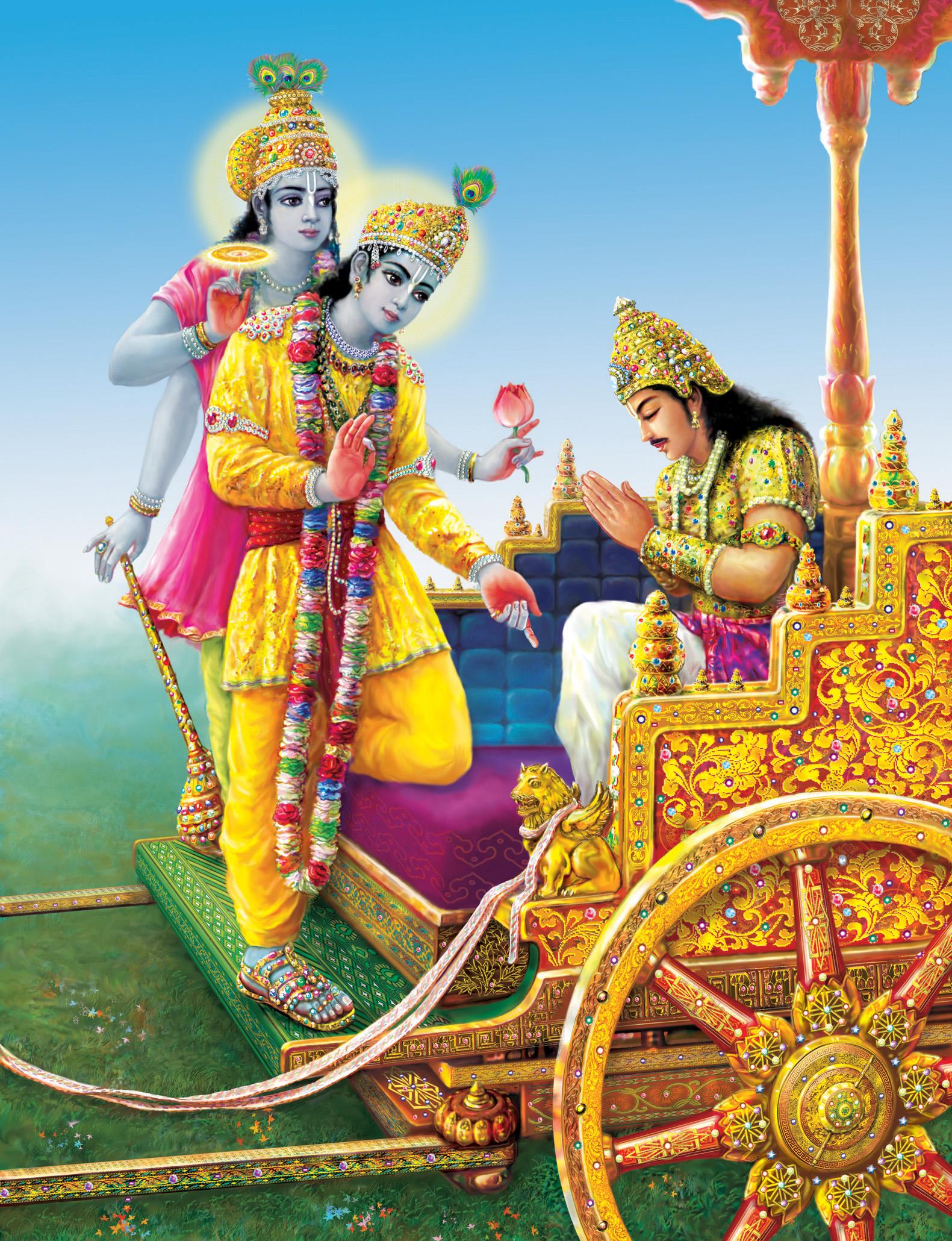 New Famous Mahabharat Geeta Gyan Krishn Arjun HD Photos for free download